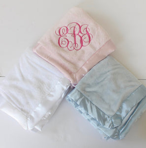 Monogrammed Blanket and Lovie Set