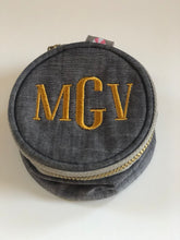 Load image into Gallery viewer, Brass Cuff and Monogrammed Pouch Gift Set