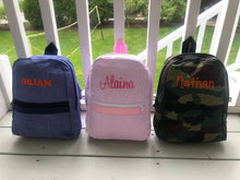 Load image into Gallery viewer, Monogrammed Toddler Backpack