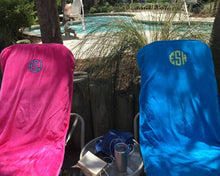 Load image into Gallery viewer, Monogrammed Chaise Lounge Chair Cover