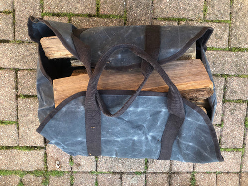 Personalized Firewood Log Carrier