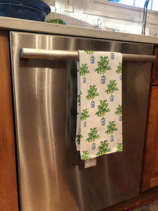 Monogrammed Tea Towel Lemon Tree