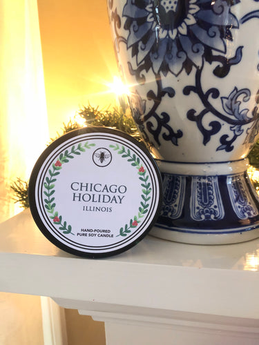 Chicago Holiday Candle 8 oz. Tin