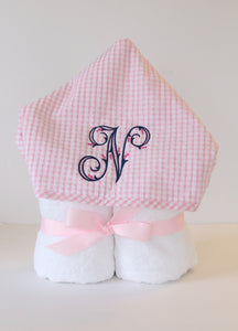 Monogrammed Hooded Towel