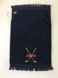 Monogrammed Golf Finger Tip Towel