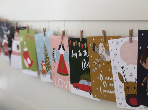 Kids Advent Cards