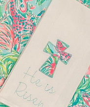 "Load image into Gallery viewer, Lily Pulitzer  ""He is Risen"" Towel"