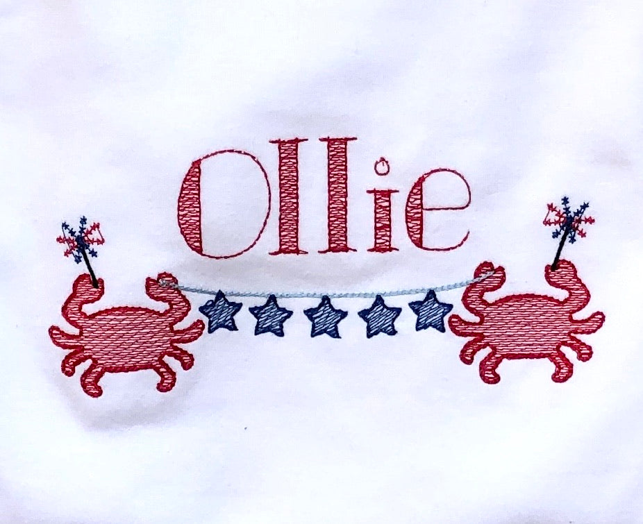Boy's Monogrammed Crab Shirt
