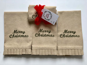 Merry Christmas Fingertip Hand Towel