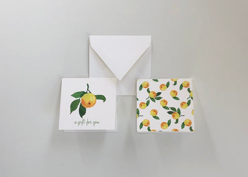 Lemon Spray Gift Enclosure Cards