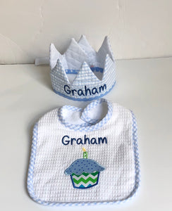 Birthday Bib and Crown