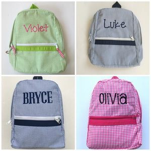 Monogrammed Toddler Backpack