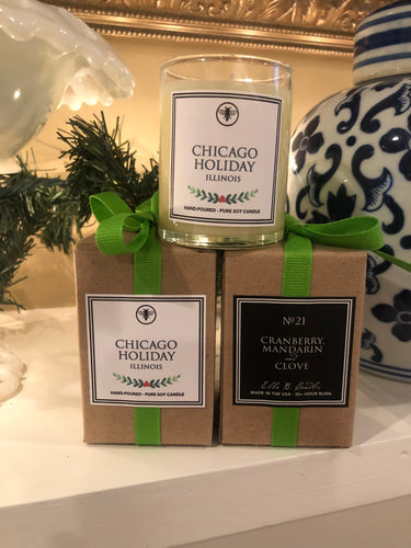 Chicago Holiday Ella B Votive Candle