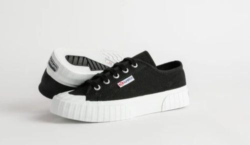 Superga 2630 Cotu Black White Stripe
