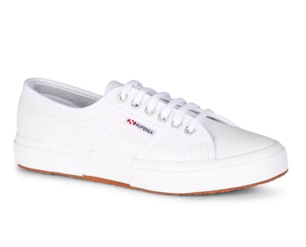 Superga Efglu White Leather Sneaker