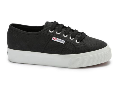 Superga 2730 Cotu Black-FWhite