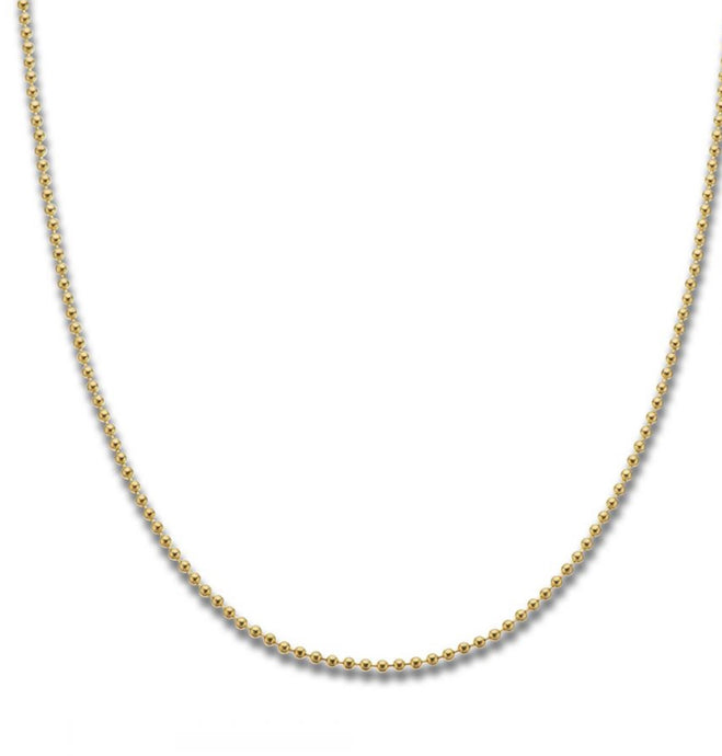 Palas Yellow Gold Plated Ball Chain 50 cm