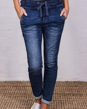 Load image into Gallery viewer, Italian Star Tie Waist Denim Jogger