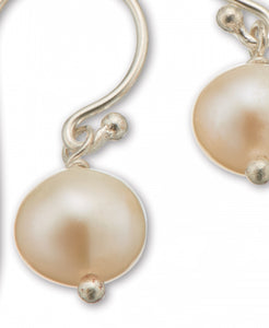 Palas Silver Pearl Hook Earrings