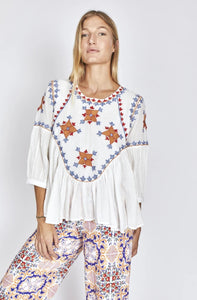 Solito Sorrento Embroidered Top