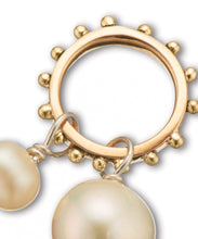 Load image into Gallery viewer, Palas Slv + Brz + Pearl Double Pearl Charm on Ring