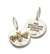 Load image into Gallery viewer, Palas Silver Brass Bee Charm