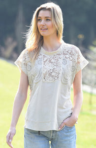 Maud Dainty Ibis Natural Top
