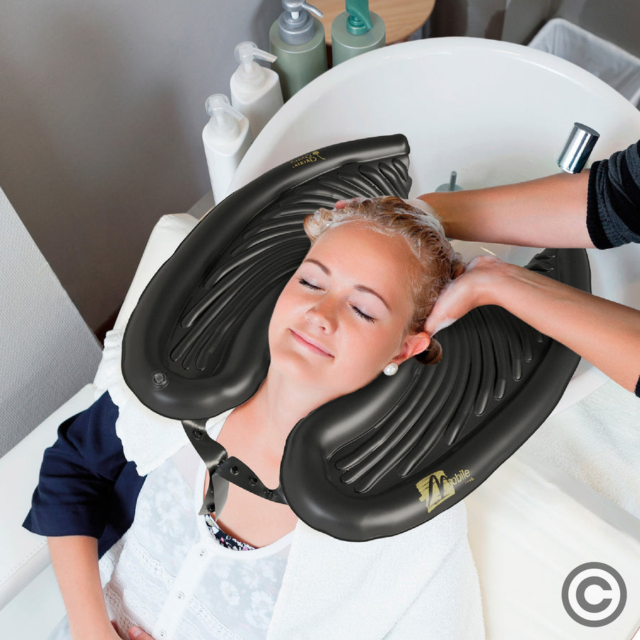 Mobile Salon Inflatable Basin for Washing Hair in Bed and at Home