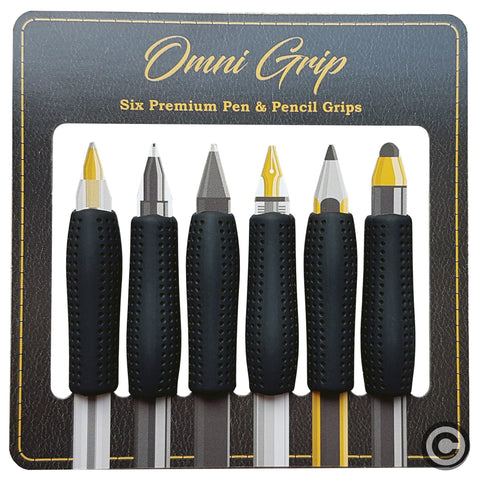 Omni Grip 6 Pack Comfort Grips for Pen, Pencil, Apple Pencil and Styluses