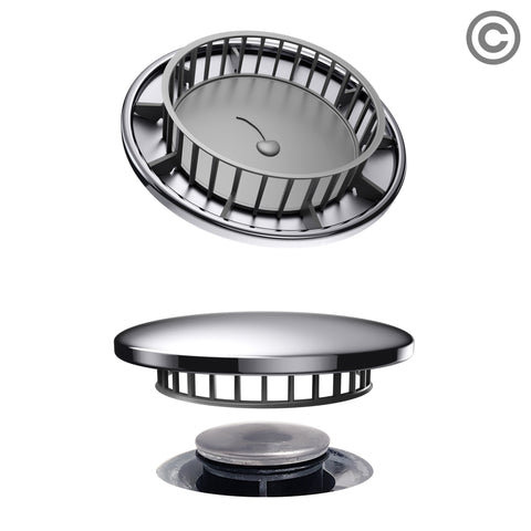 Tub Flo Stainless Steel Hair Catcher for Shower, Tub, and Sink Drains - Fits Most Drains with No Installation