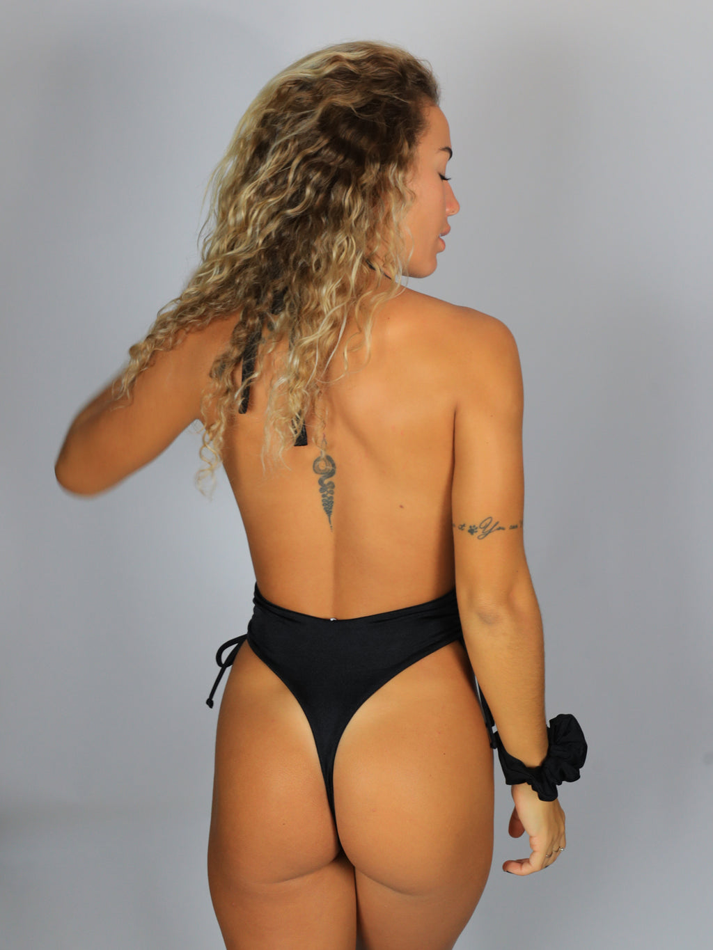 Sun Drop One-Piece / Sparkle Black