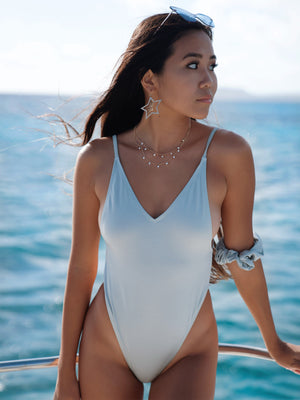 Pretty Girl One-Piece / Shiny Silver Sage