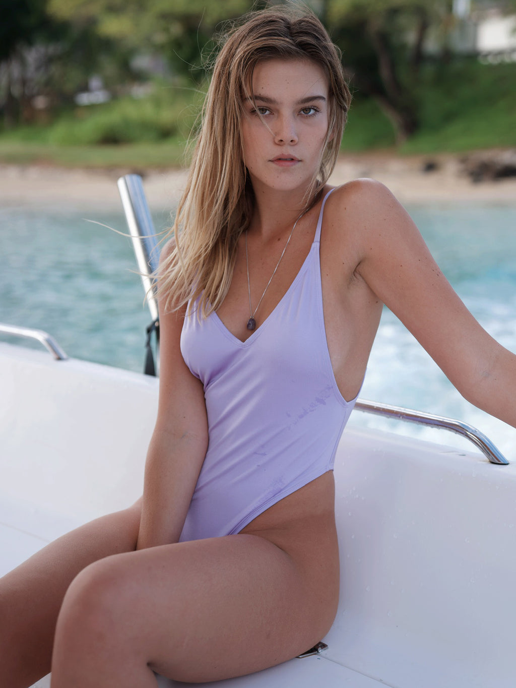 Pretty Girl One-Piece / Shiny Lilac