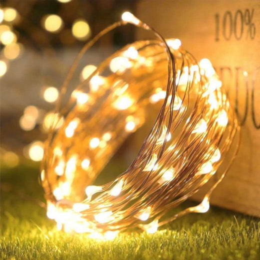 Starlit Gold LED String Lights from Luminous Terrace