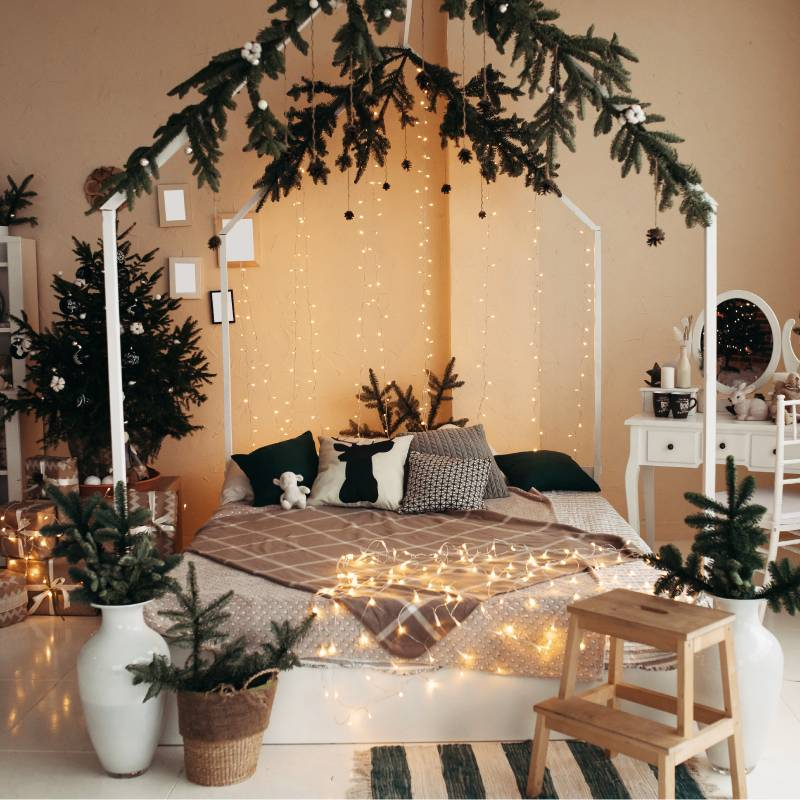 Starlit Gold as bedroom decoration