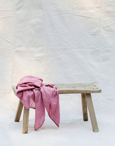 muslin wraps australia - a raspberry coloured earth wrap, hand dyed with plant dyes in organic muslin. A stunningly sft swaddle for baby, gentle on their sensitive skin and the environment