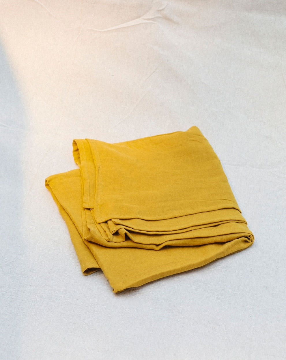 mustard muslin wrap - GOTS certified organic cotton muslin wrap - Plant Dyed baby swaddle