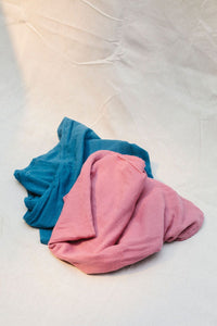 muslin wraps raspberry colour made from organic cotton - double layered and plant dyed for the health of baby and the environment - raspberry colour earth wrap