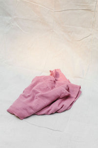 organic muslin wrap in raspberry made using plant dyes and extra soft and double layered by taninaka - organic baby swaddle