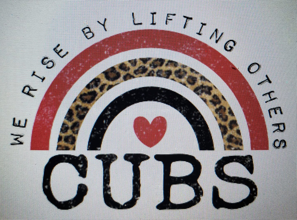 PREORDER! Cubs We Rise By Lifting Others Tee - Ships in THREE Weeks!