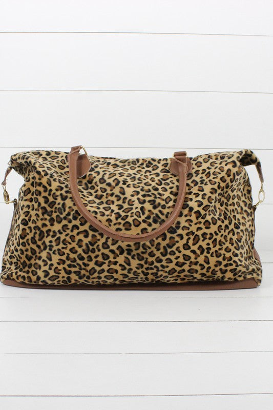 SALE! Avery Leopard Weekender Bag