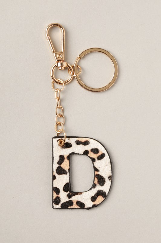 Double-Sided Leopard Key Ring