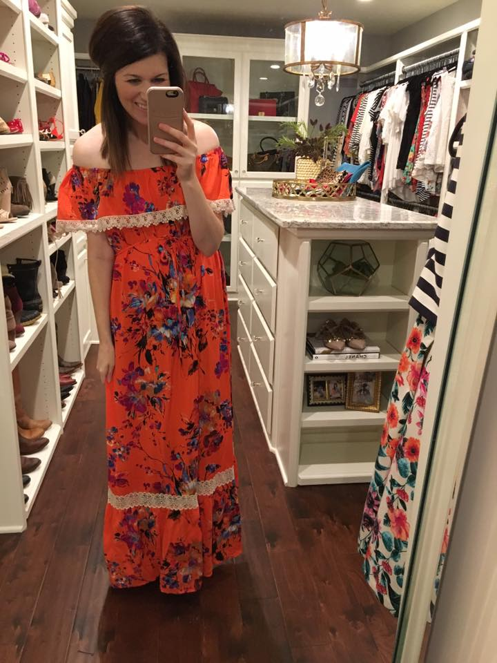 SALE! Island Ready Maxi Dress in Coral
