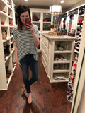 *BELLES & STEALS* Landon Basic Tee in Teal and Mauve
