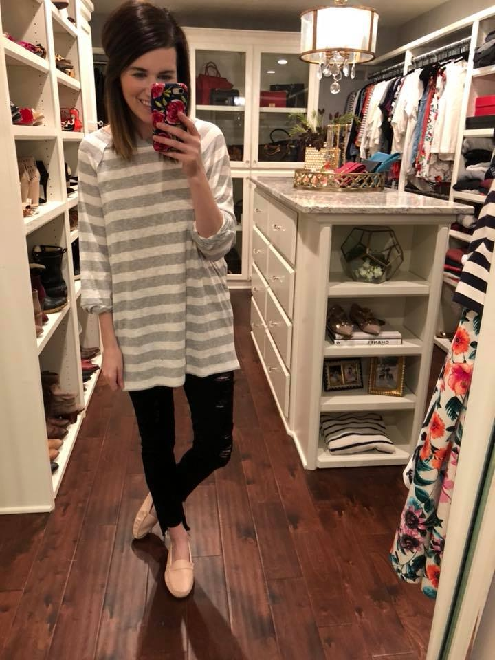Carlie Striped Top