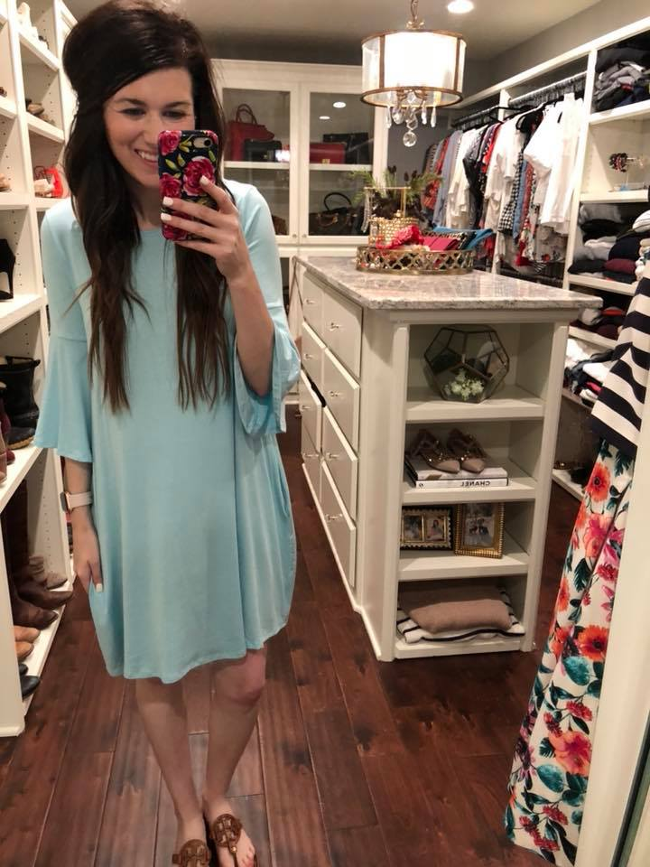 SALE! *BELLES & STEALS* Sophie Dress in Green, Aqua, and Lavender