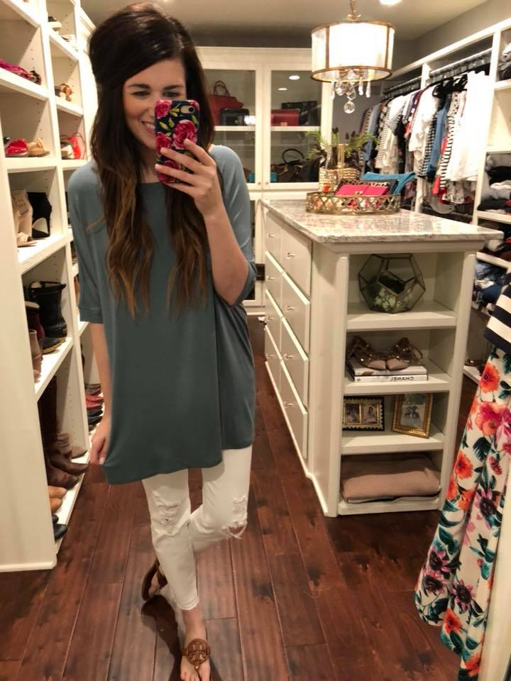 SALE! *BELLES & STEALS* Dorinda Tunic in Gray, Pink, Teal, and Black