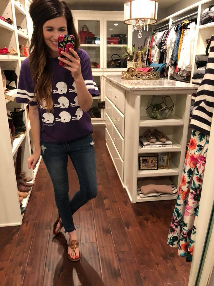 SALE!  Helmet Ringer Tee in Purple