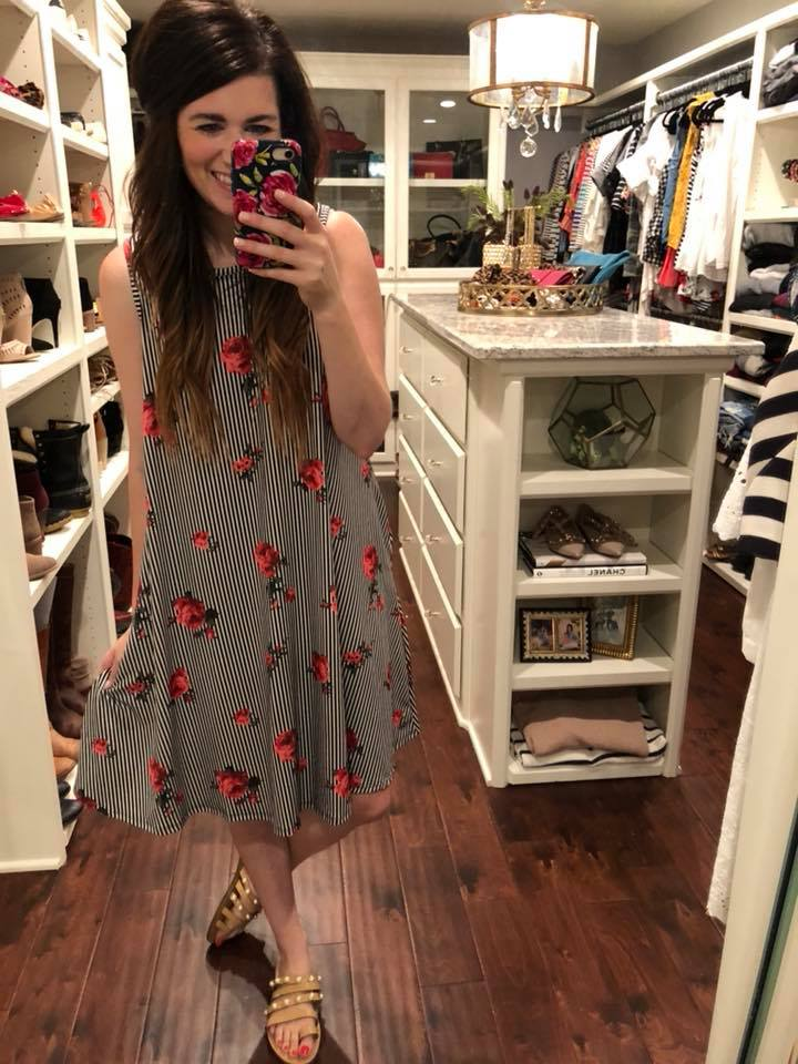 *BELLES & STEALS* Sheree Swing Dress in Roses