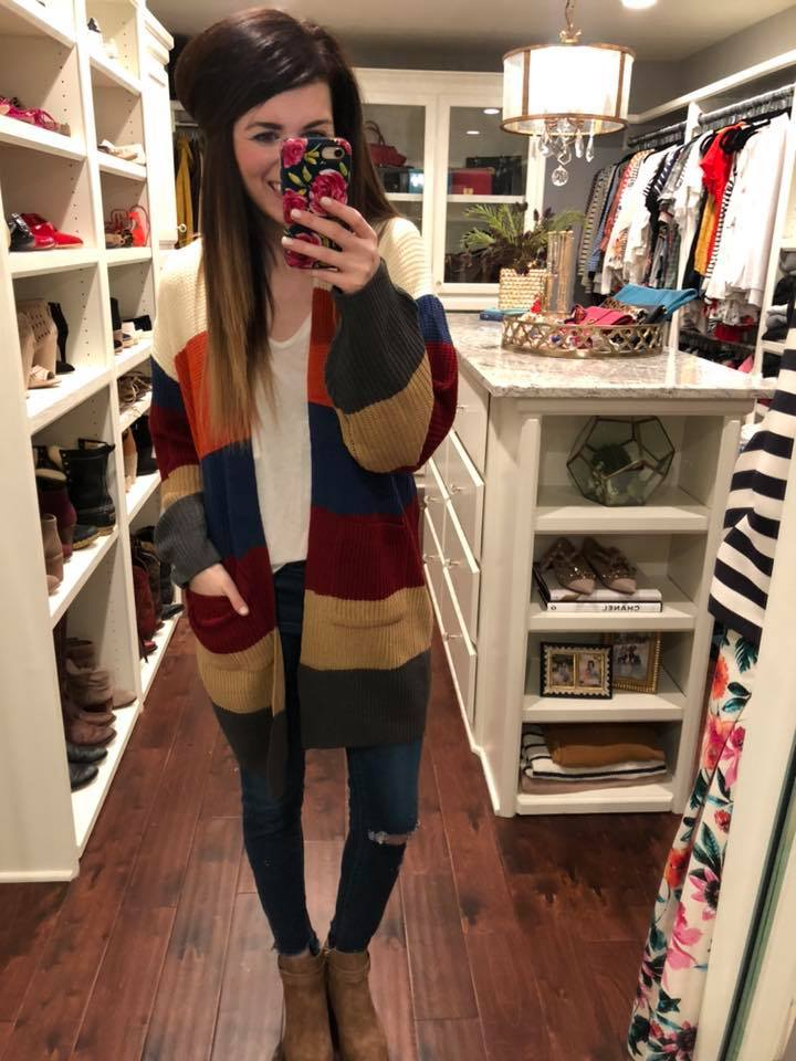 Rochester Color Block Cardigan